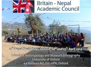 Programme and Abstracts Book -Nepal Study Days Oxford (Unpublished)